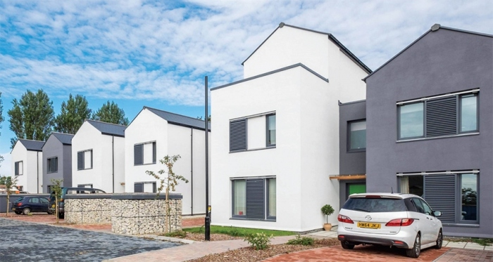 Cameron Close on the Isle of Wight, one of a growing number of passive house developments in the UK
