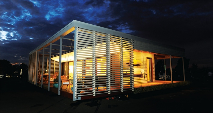 Stevens Institute of Technology's Sure House, a Hurricane Sandy inspired project that won the 2015 US Solar Decathlon