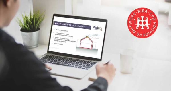 Partel announces RIBA accredited airtightness CPD