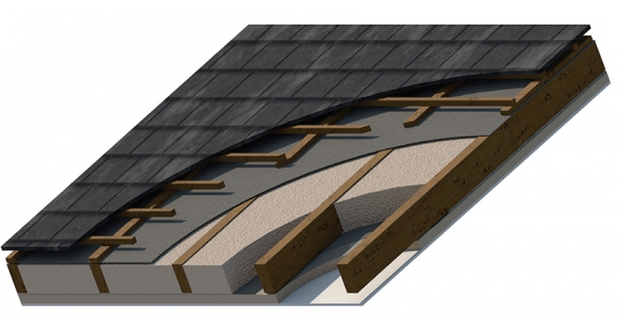 The BBA has certifi ed the application of Icynene insulation directly to the underside of breathable and non-breathable roof membranes and felt
