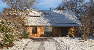 Scottish passive house built with an innovative local timber system
