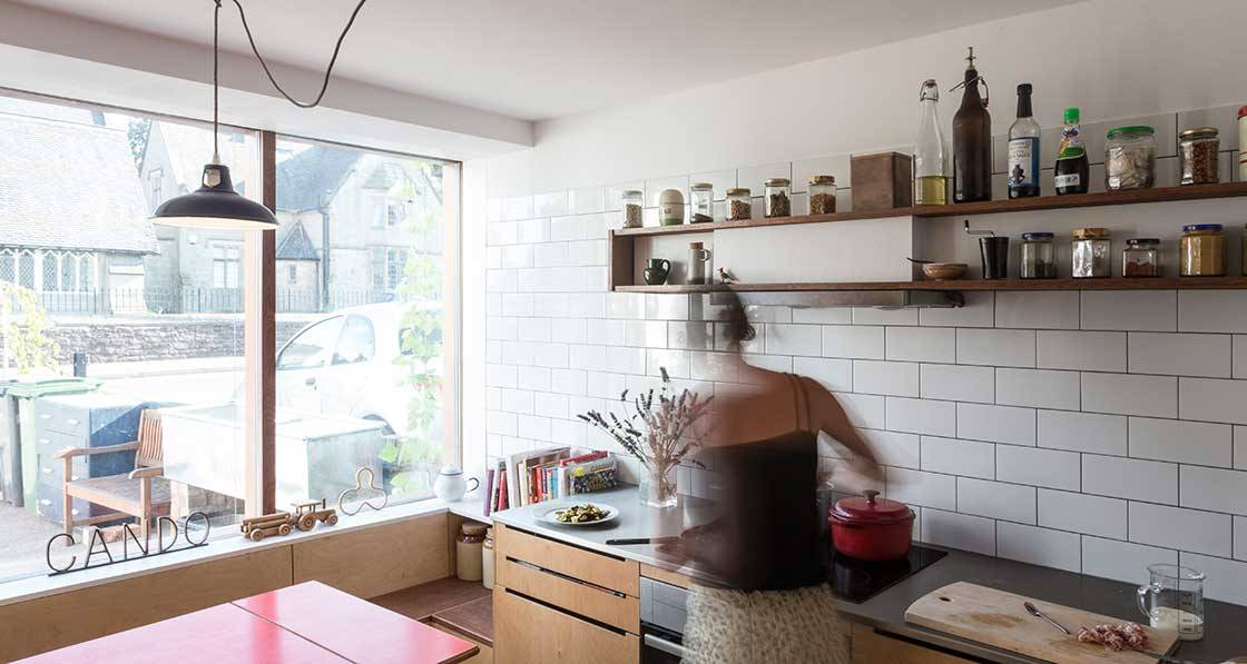 From derelict shop to tiny low energy home